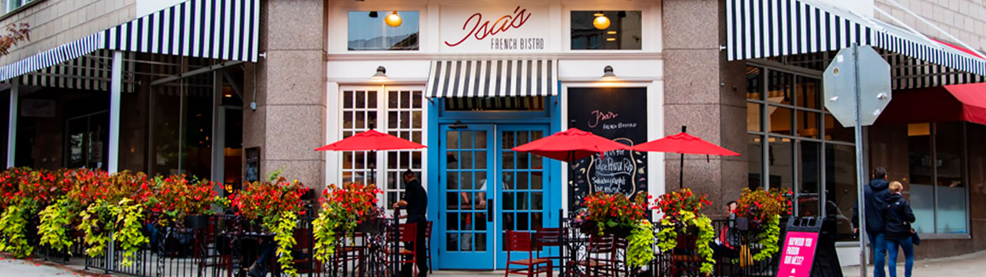 Location of Isa's French Bistro Restaurant, Asheville